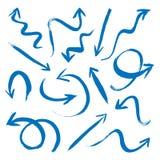 Set blaue Pfeile Lizenzfreies Stockfoto
