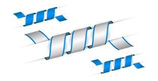 Set blaue verdrehte Farbbänder Lizenzfreie Stockfotografie