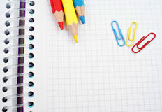 Set Bleistifte Stockfoto