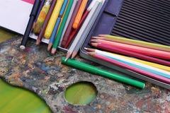 Set Bleistifte Stockbild
