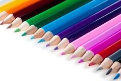 Set Bleistifte der verschiedenen Farben Stockfotografie