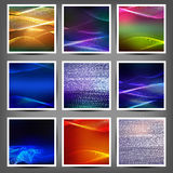 Set of blend abstract color wave Royalty Free Stock Photos
