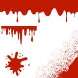 Set of Blood Blots  on White Background Royalty Free Stock Image