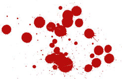 Set of blood drops Royalty Free Stock Photo