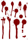 Set of blood drops Royalty Free Stock Photography