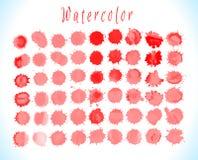 Set of blood drops, splatter Stock Photos