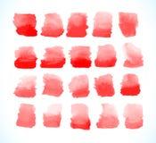 Set of blood drops, splatter Royalty Free Stock Photos