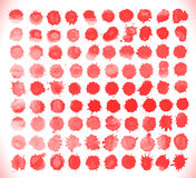 Set of blood drops, splatter Royalty Free Stock Images