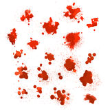 Set of blood spots Stock Image