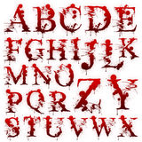 Set of Bloody letters isolated Royalty Free Stock Photography