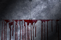 Set 8. bloody metal wall Royalty Free Stock Photo