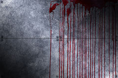 Set 8. bloody metal wall Royalty Free Stock Image