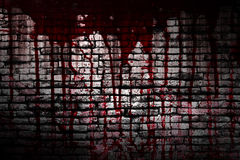 Set 8. bloody wall  in the dark Royalty Free Stock Image