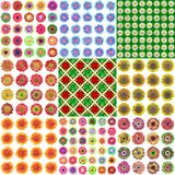 Set of blooms generated texture Stock Photos