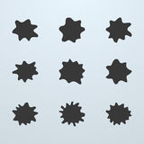 Set of blots or blobs Stock Image