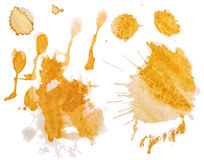Set of blots and splashes of spilled coffee Stock Photo