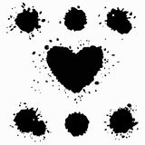 Set of blots and splatters Stock Photography