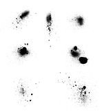 Set of blots Royalty Free Stock Images
