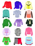 Set of blouses. For the office and everyday life Royalty Free Stock Photo