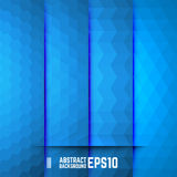 Set of Blue Abstract Backgrounds. Four Patterns. Vector illustration Royalty Free Stock Photo