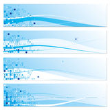 Set of blue abstract banners Royalty Free Stock Image