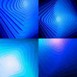Set of blue abstract shiny backgrounds Stock Photography