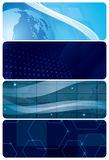Set of blue abstract vector backgrounds Stock Images