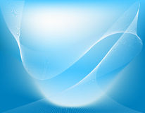 Set Of Blue Abstract Wave Backgrounds. Royalty Free Stock Image