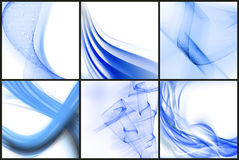 Set of blue abstracts. Set of blue elegant abstract backgrounds Royalty Free Stock Image