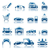 Automotive icon set Stock Photography