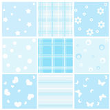 Set blue baby seamless. Vector Illustration