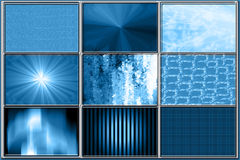 Set of Blue Background Patterns Stock Images