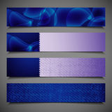 Set of blue banners Stock Image