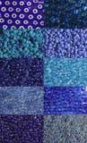 Set of blue beads Royalty Free Stock Photos