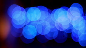 Set of blue bokeh lights stock video footage