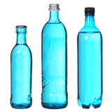 Set of blue bottles Stock Photography