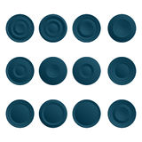 Set of blue buttons. Set of blue blue buttons for internet. Isolated icons Royalty Free Stock Image