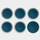 Set of blue buttons. Isolated icons Stock Images