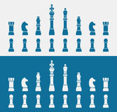 Set of blue Chess icons Royalty Free Stock Images