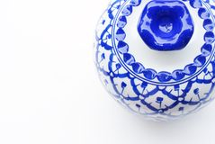 Set of blue chinaware Stock Photography