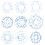 Set Blue Circle ornamenty Zdjęcie Royalty Free