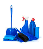 Set of blue detergent Stock Images