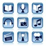 Entertainment icons stock illustration