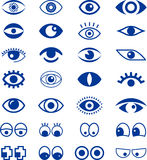 Set of blue eye signs Stock Photo