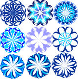 Set of blue flowers Stock Image