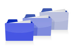 Set of blue folders Royalty Free Stock Photo