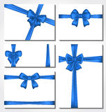 Set of blue gift bows for design packing Stock Photo