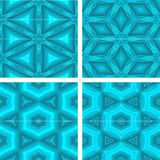 Set of blue glowing abstrack seamless background Royalty Free Stock Image