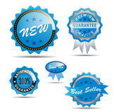 Set blue guarantee Royalty Free Stock Photo