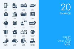 Set of BLUE HAMSTER Library finance icons Stock Photos